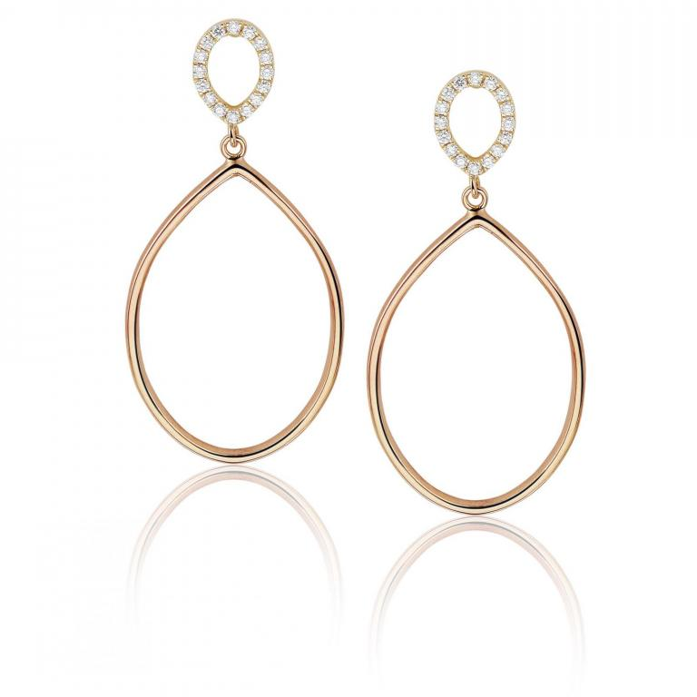 Félice earrings rose gold small