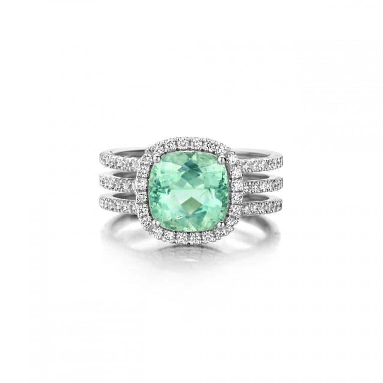REAGAN ring mint tourmaline