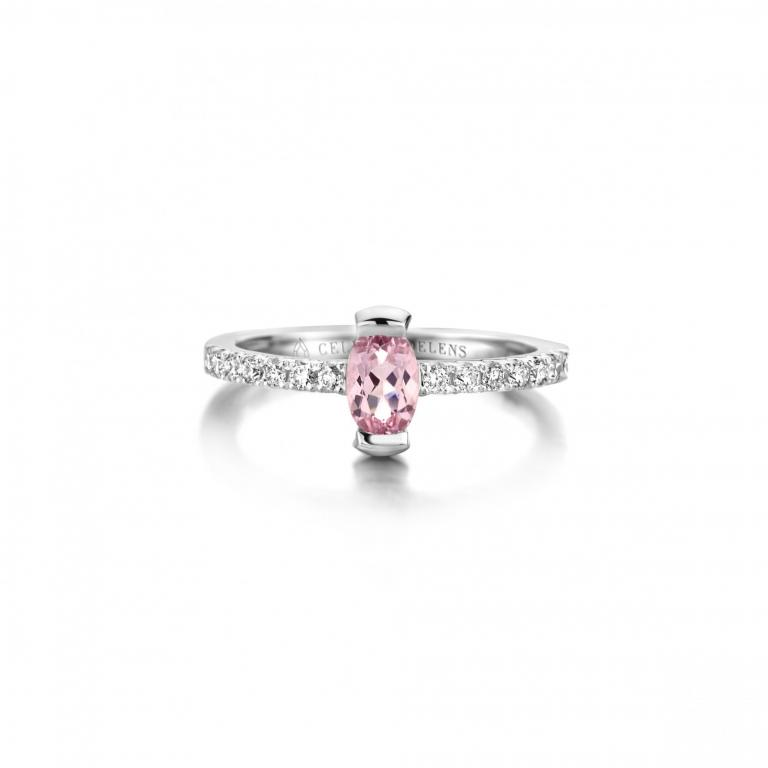 Adeline ring pink morganite
