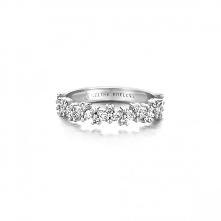 Adèle wedding ring diamonds
