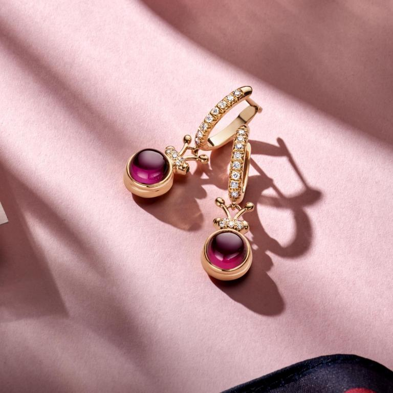 BILLY earrings Royal purple ganet