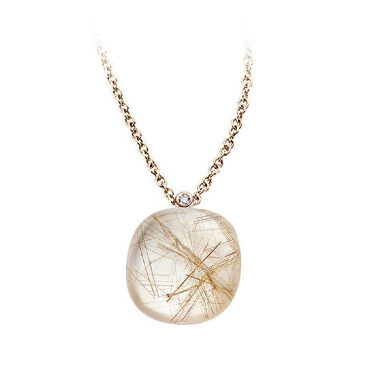 Mini sweety pendant Rutilated quartz