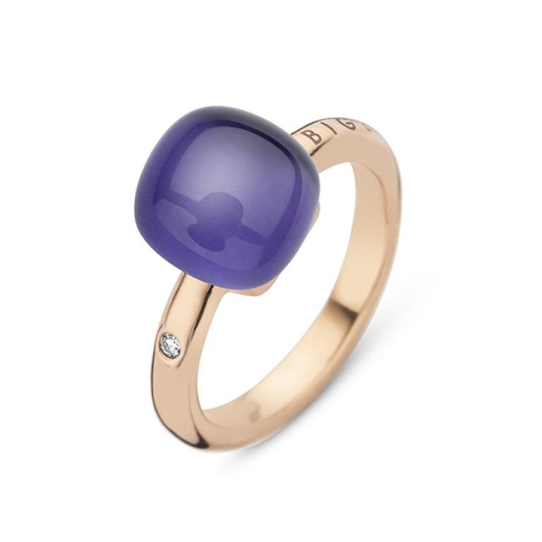 Mini sweety ring amethyst and lapis lazuli