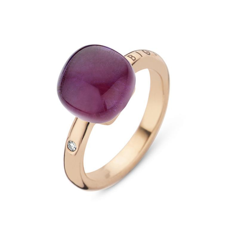 Mini sweety ring amethyst and ruby