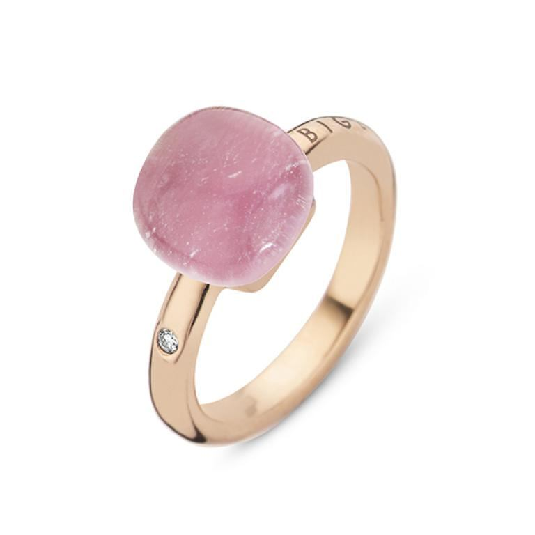 Mini sweety ring rock crystal and ruby