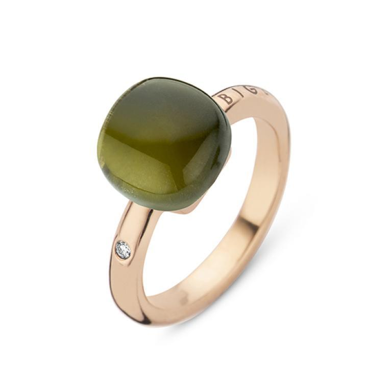 Mini sweety ring green amethyst and tourmaline