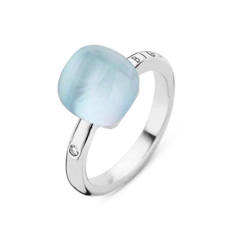 Mini sweety ring rock crystal and turquoise