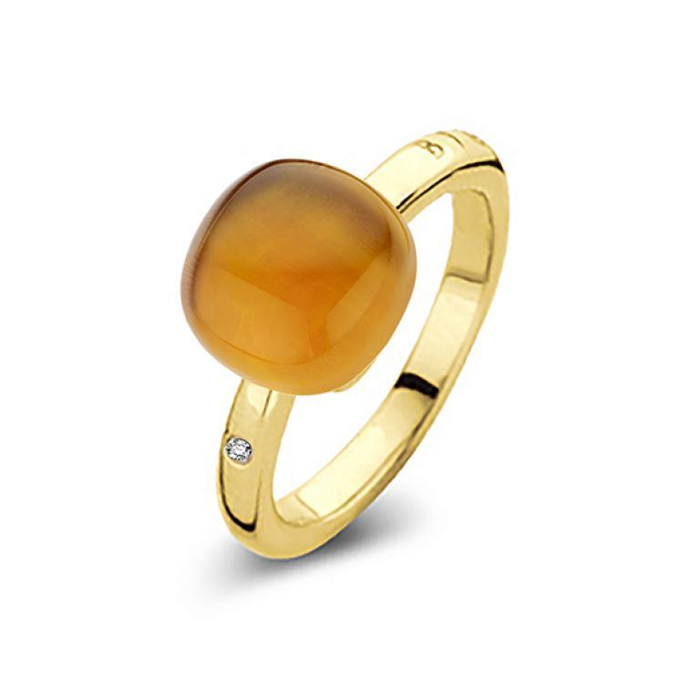 Mini sweety ring madeira citrine