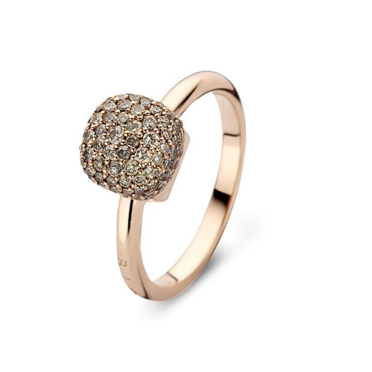 Mini sweety ring brown diamonds small