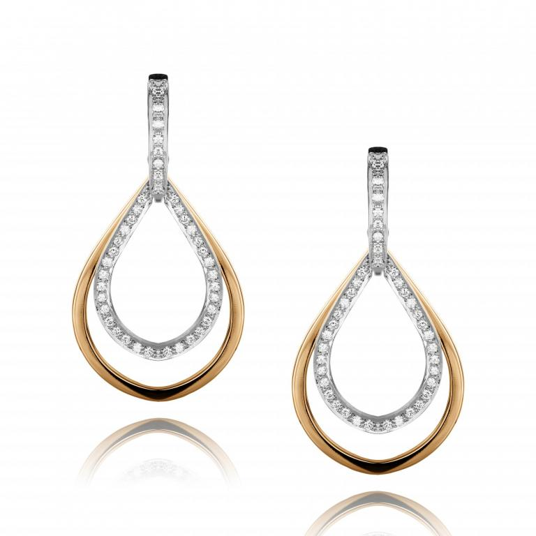 JOSEPHINE earrings diamonds rose & white gold