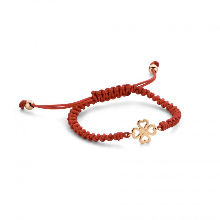 LILA cord 4 hearts rose gold