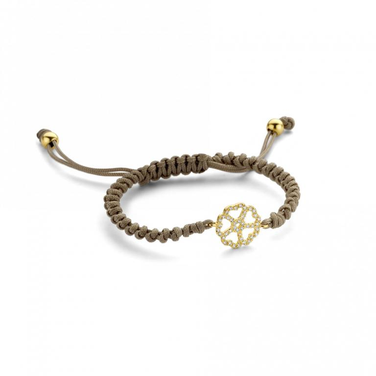 LILA cord 5 hearts yellow gold