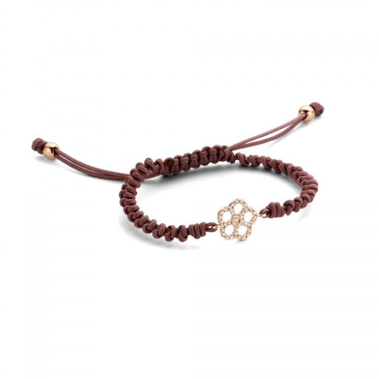 LILA cord flower rose gold