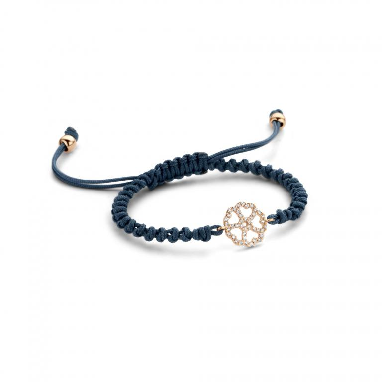 LILA cord 5 hearts rose gold
