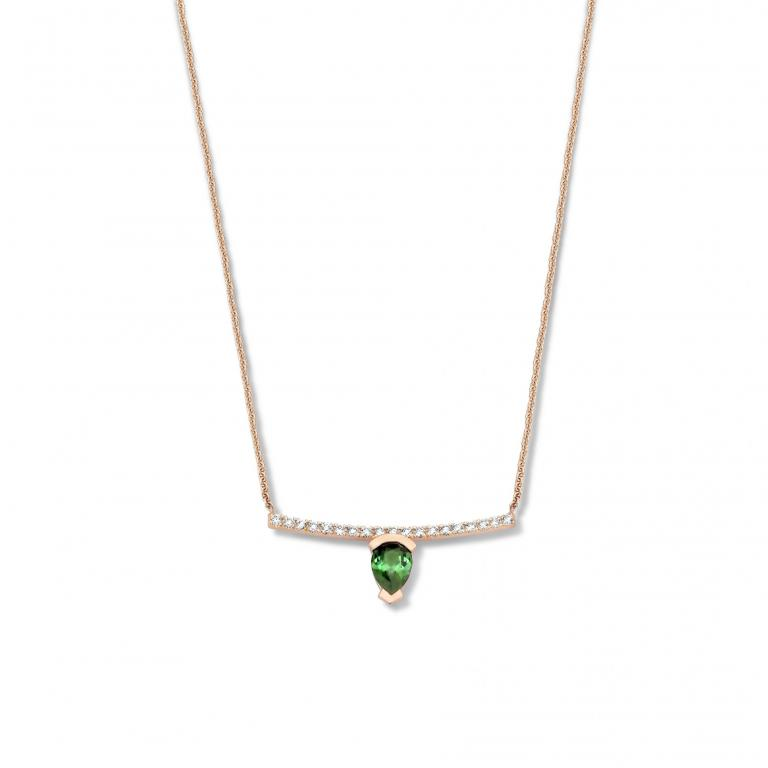 ADELINE necklace green tourmaline