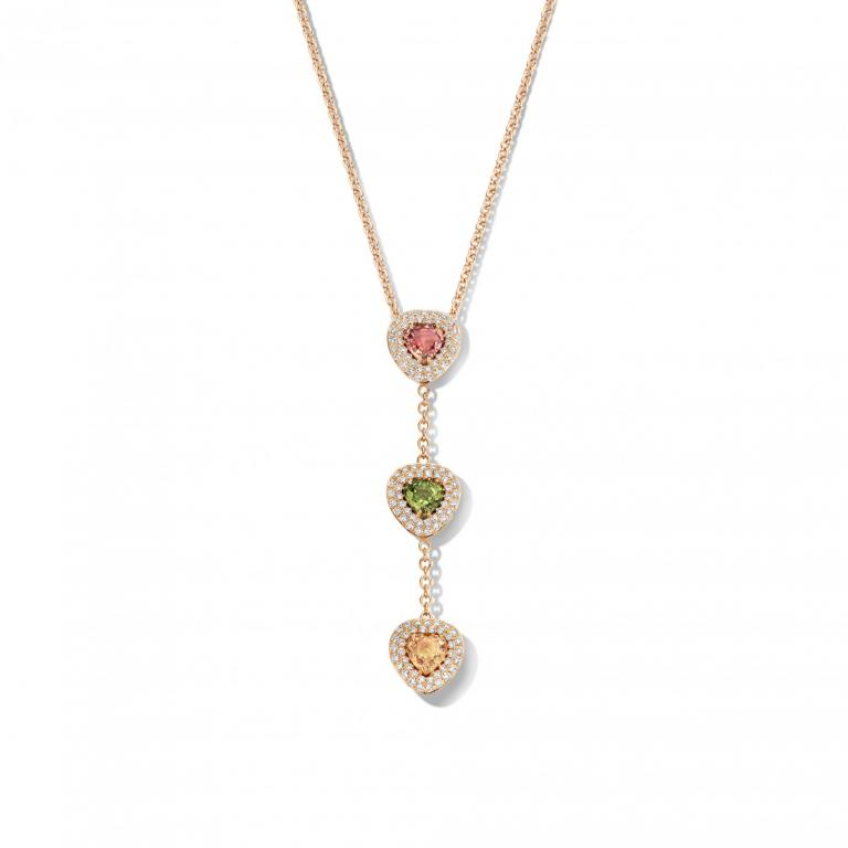DIDI necklace pink and green sapphire