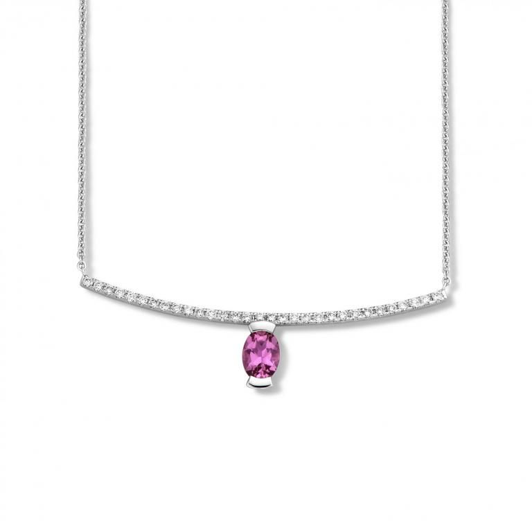 Adeline necklace pink tourmaline