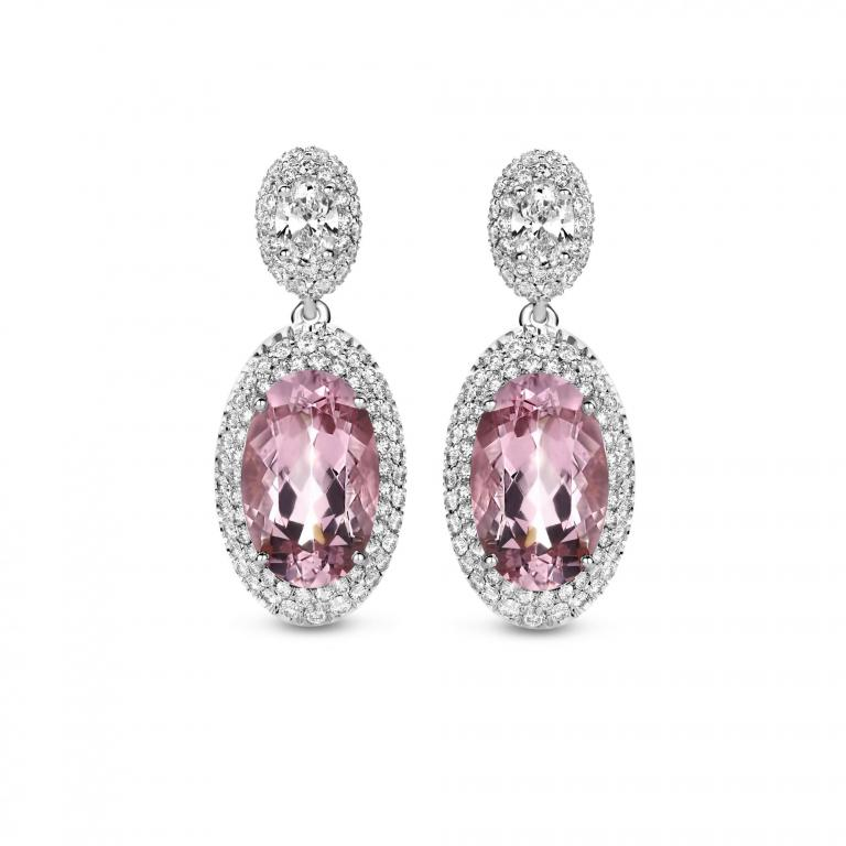 EMMANUELLE earrings pink morganite