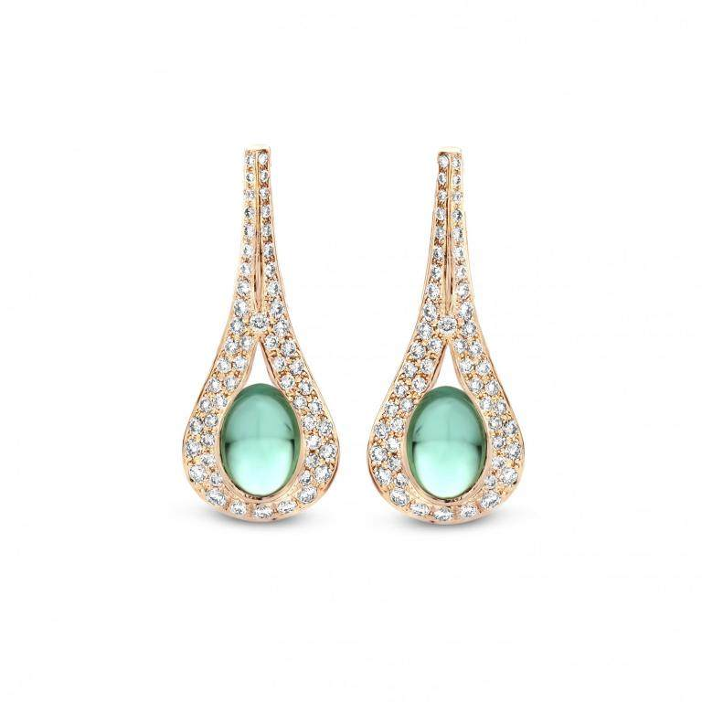 AMANDINE earrings green tourmaline