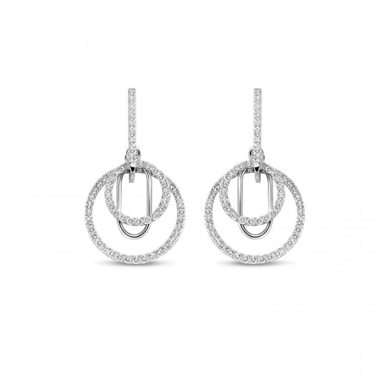 JENA earrings diamonds white gold small