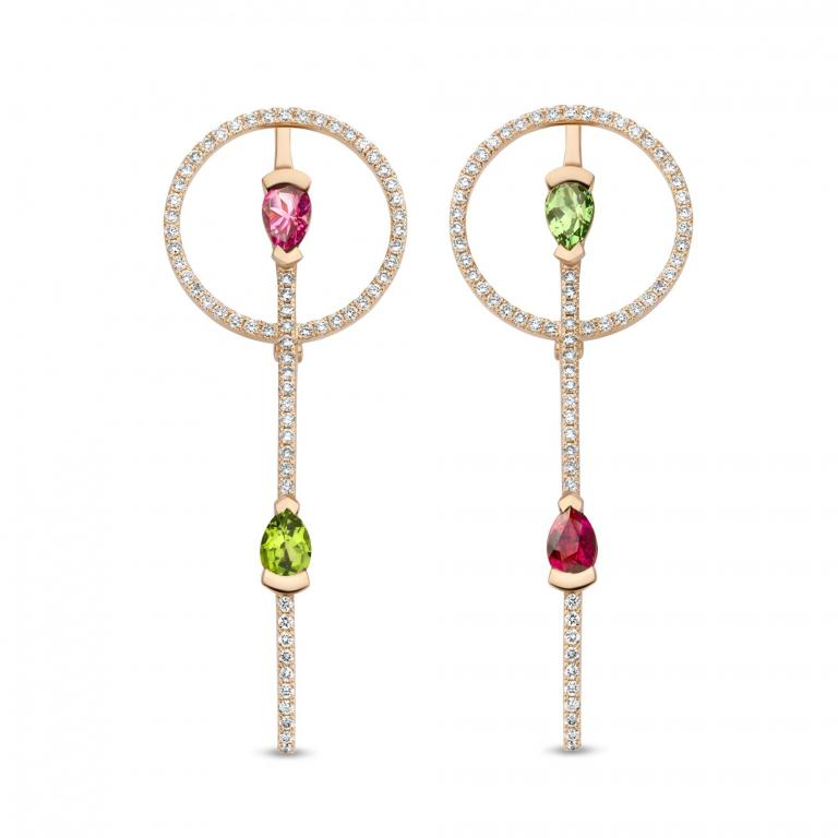 ADELINE tourmaline & tsavorite earrings