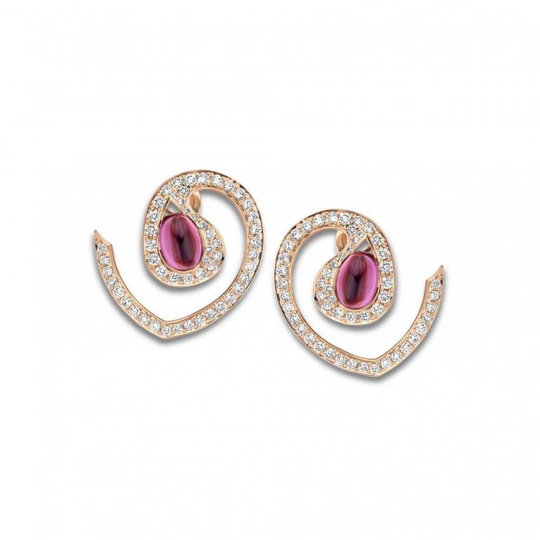 AMANDINE earrings pink tourmaline