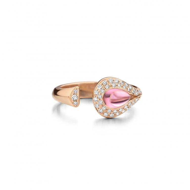 AMANDA ring pink tourmaline open