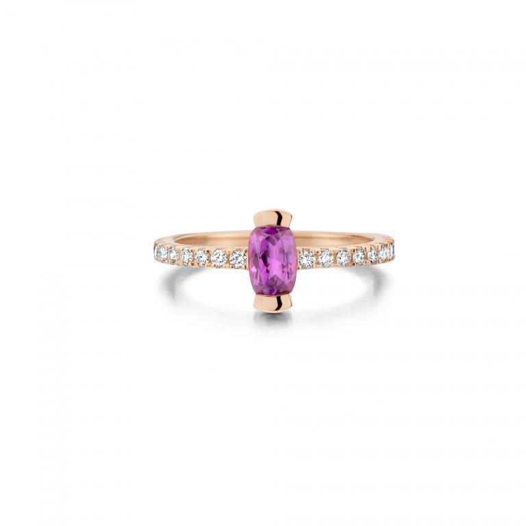ADELINE ring Royal purple garnet