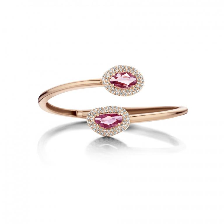 Didi bangle pink sapphires
