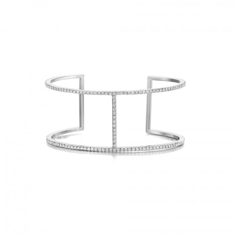 FAYE bangle white diamonds