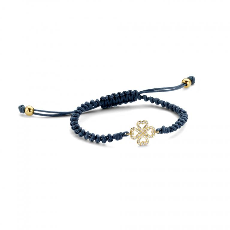 LILA cord 4 hearts yellow gold