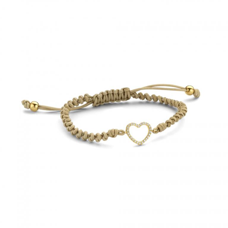 LILA cord 1 heart yellow gold