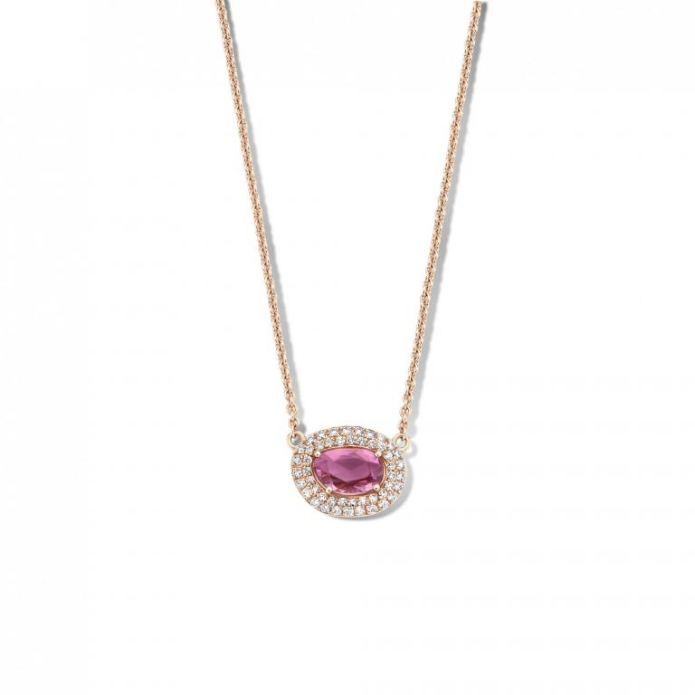 DIDI necklace pink sapphire
