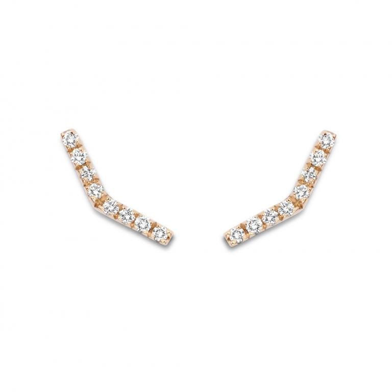 FAYE ear studs diamonds