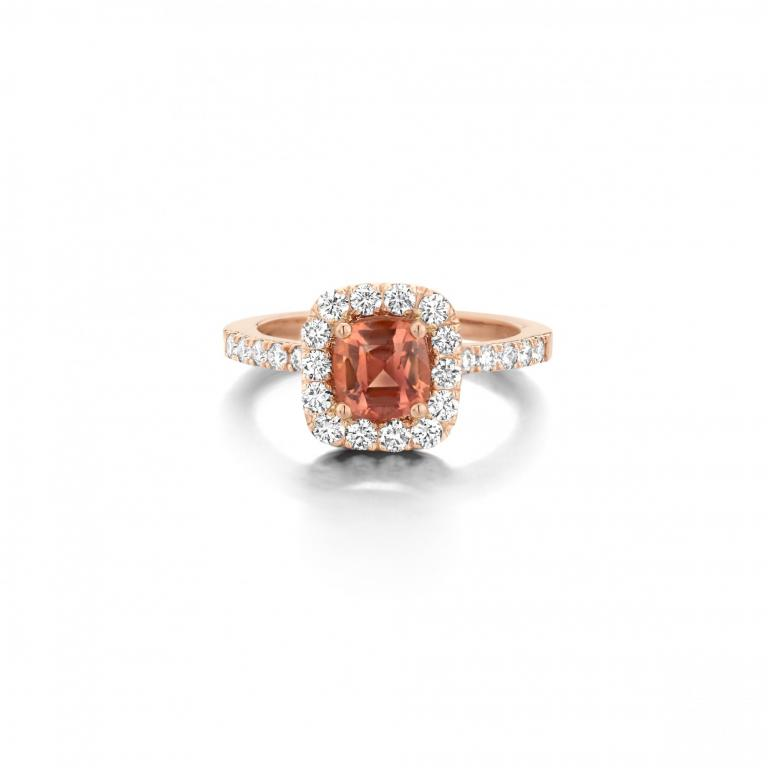 AMY ring orange sapphire