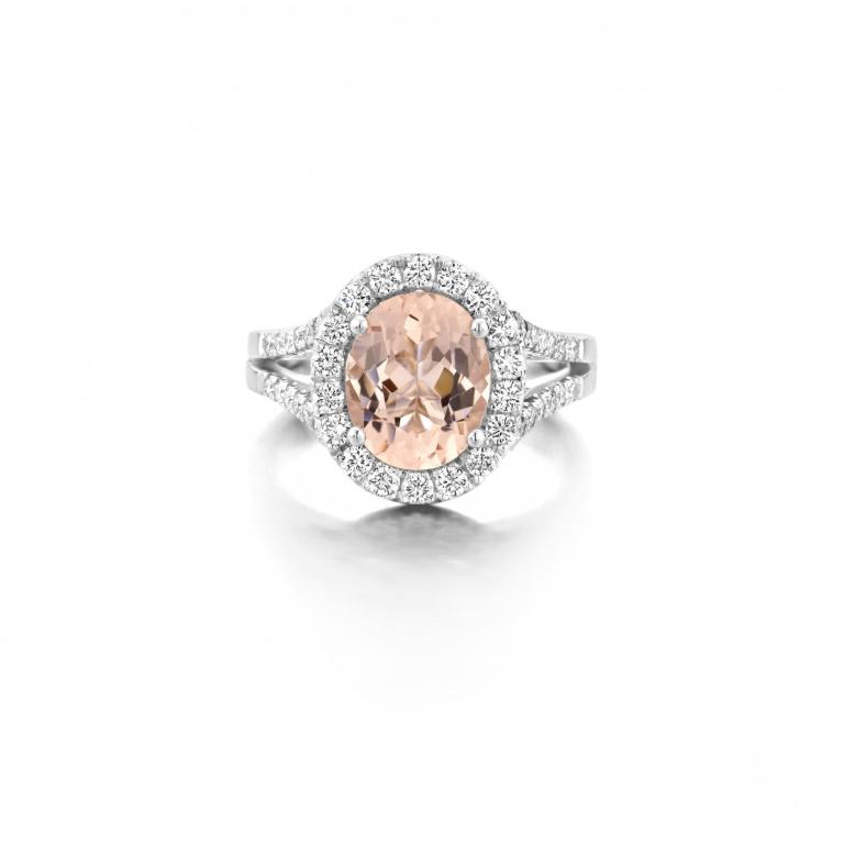 ELLA ring peach morganite