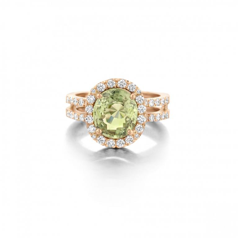 EMELY ring green sapphire