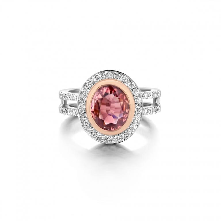 LIA ring pink tourmaline