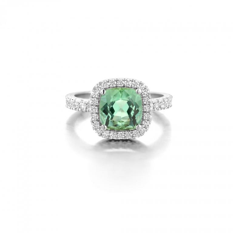 AMY ring mint tourmaline