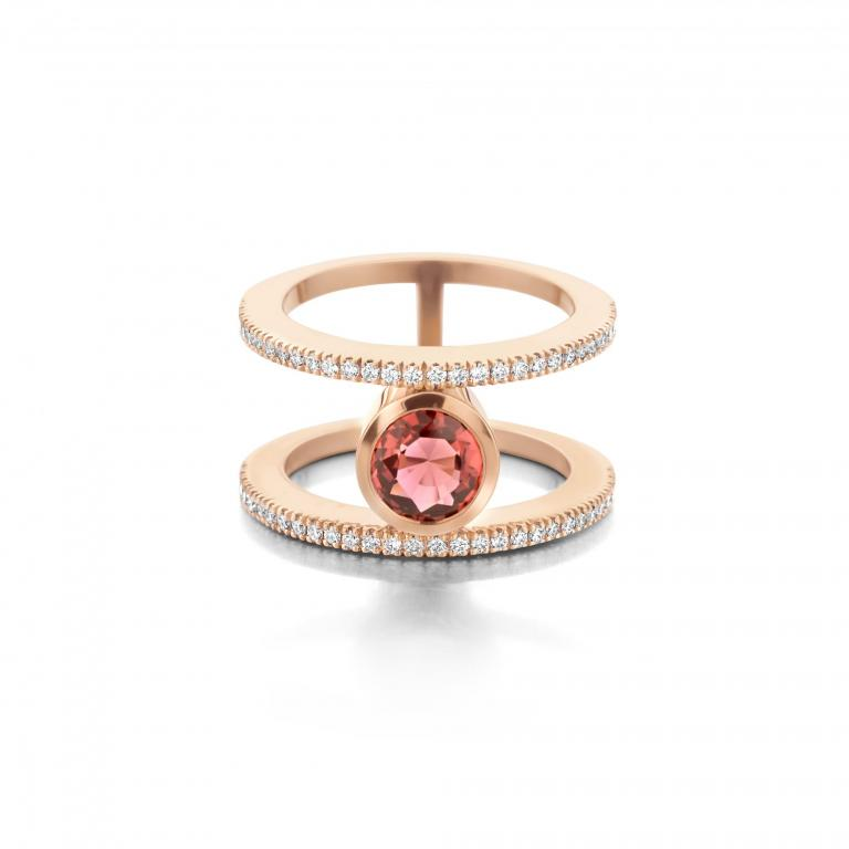 FAEDRA ring pink tourmaline