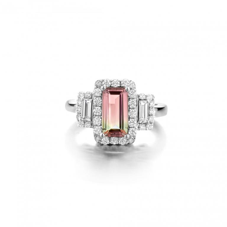 EMMANUELLE ring watermelon tourmaline