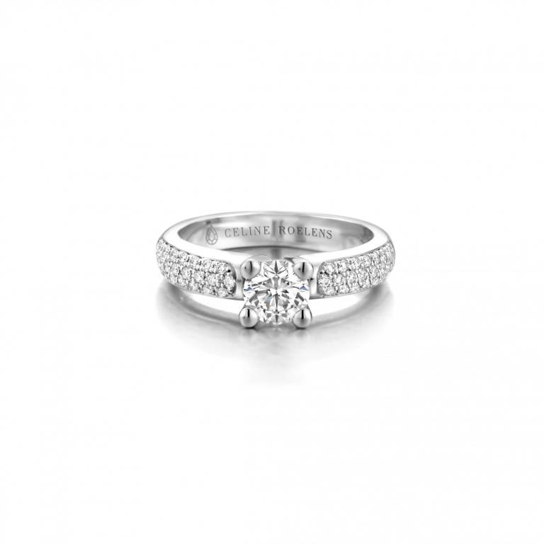 NADETTE engagement ring diamonds