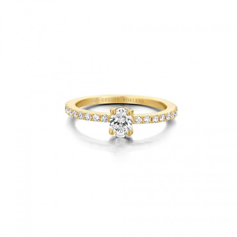 Raphaëlle ring ovale diamond