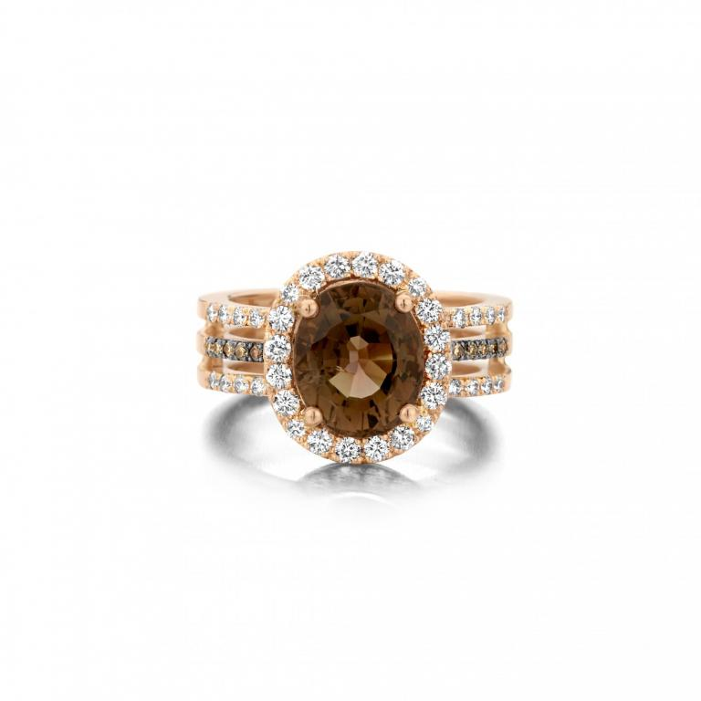 REAGAN ring brown tourmaline