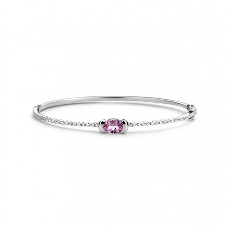 ADELINE bracelet pink tourmaline and diamonds