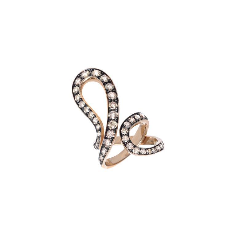 IVY ring brown diamonds