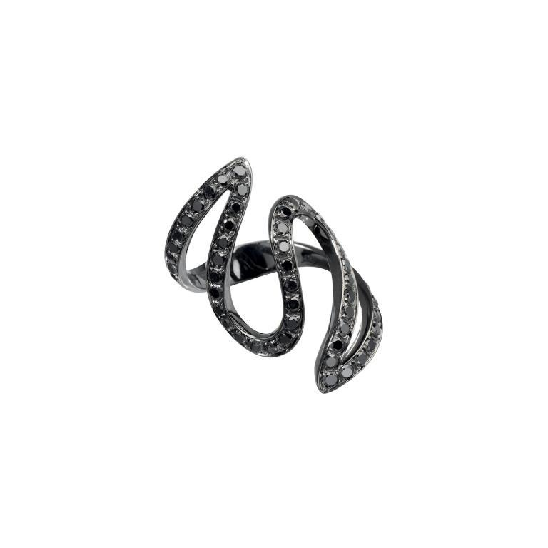 Ivy ring black diamonds