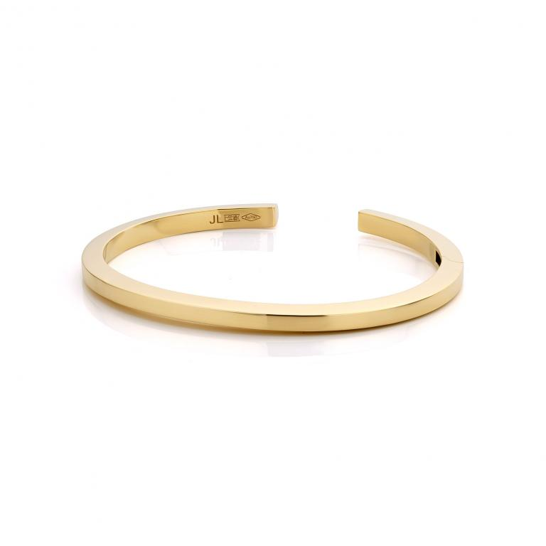 JL bangle polished yellow gold