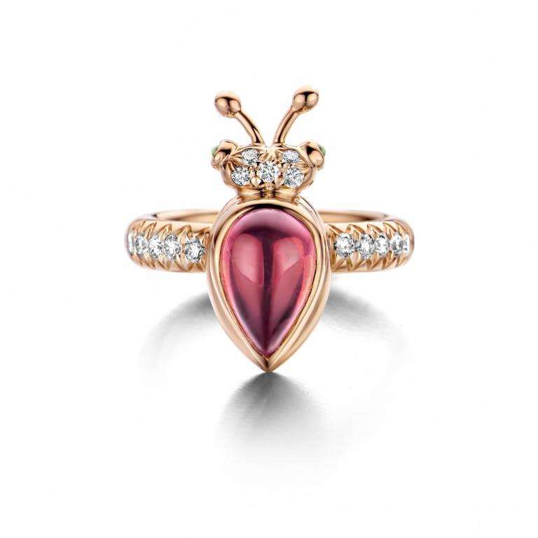 LILLY ring pink tourmaline