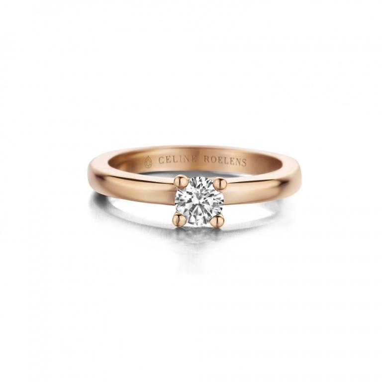 FARAH engagement ring diamond rose gold